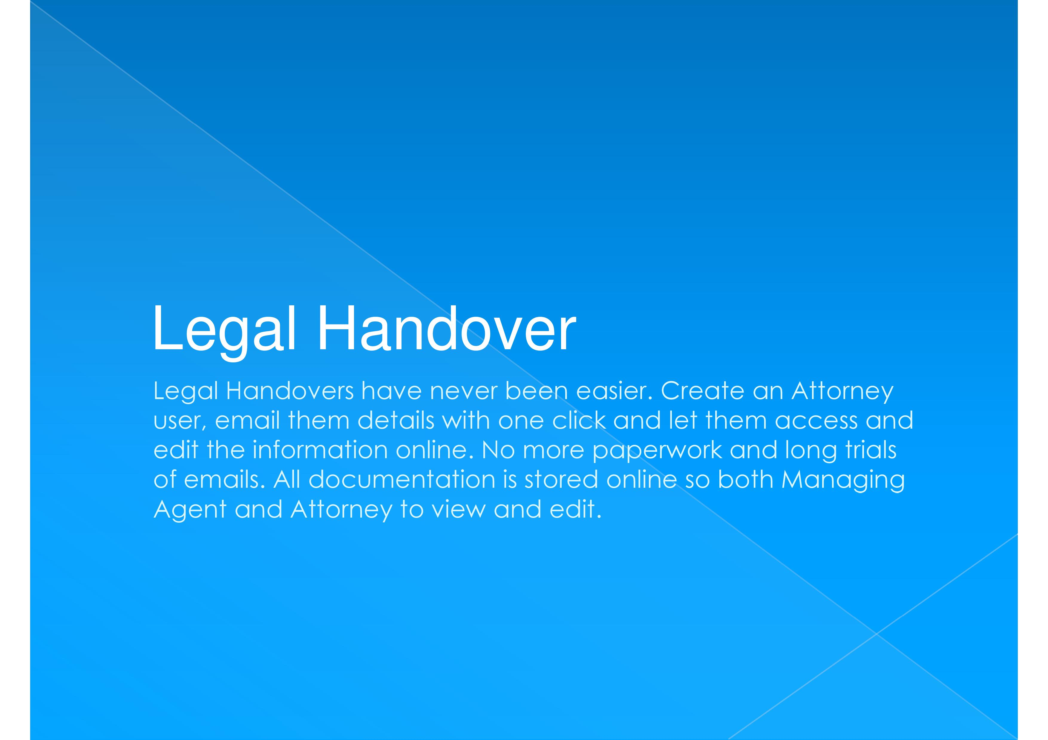 Make Legal Handovers Easy using BCMTrac