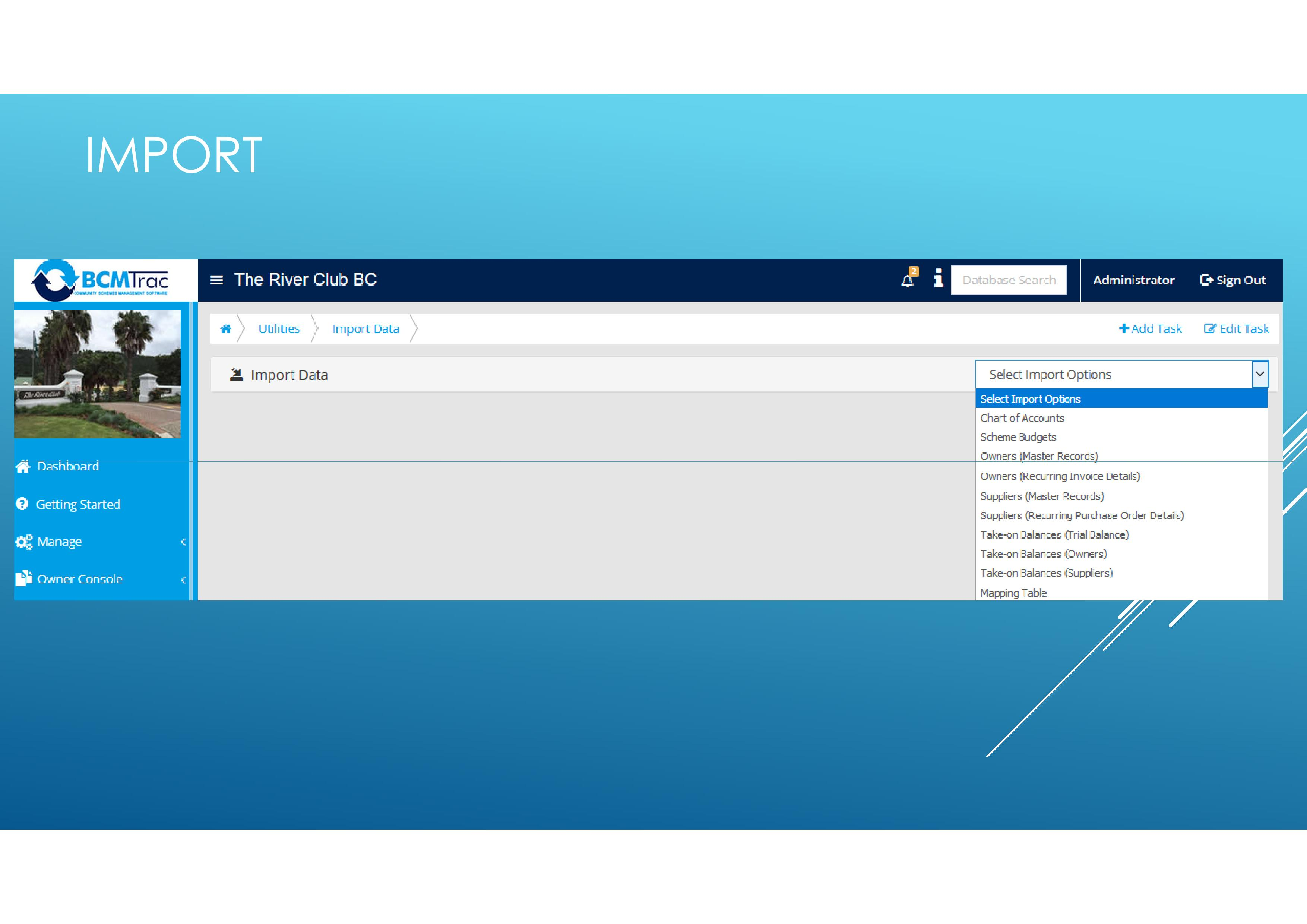 Easily import various documents